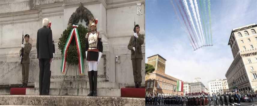 4 novembre: Mattarella e Conte all'Altare della Patria