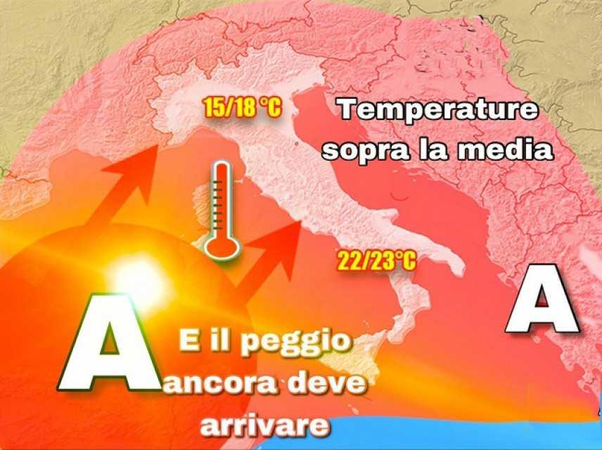 Meteo: Caldo anomalo, previsioni su Nord, Centro, Sud e Isole
