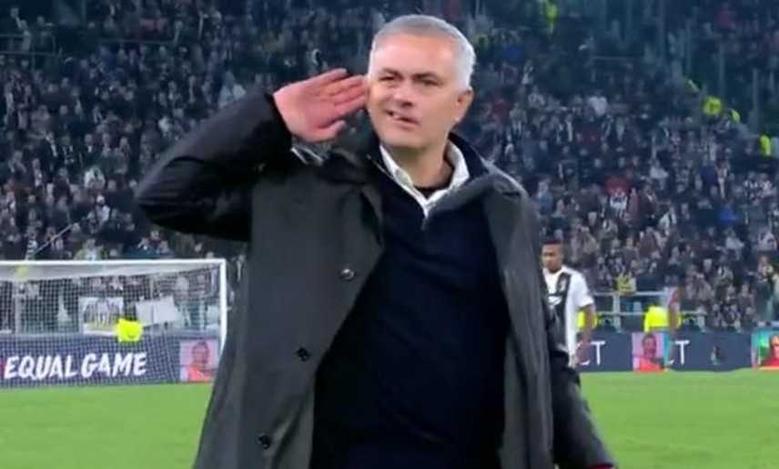 Juventus beffata, Mourinho fa lo sfottò ai bianconeri