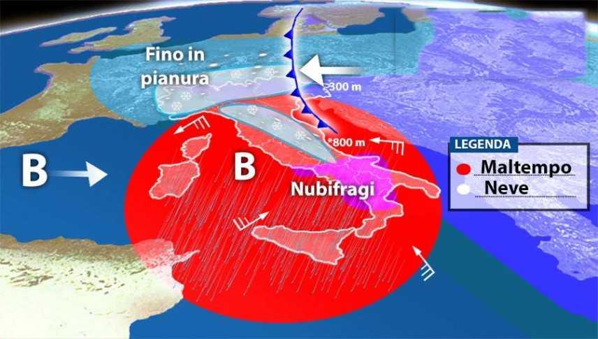 Meteo: Allerta nubifragi e allagamenti. Ecco il dettaglio, previsioni su Nord, Centro, Sud e Isole