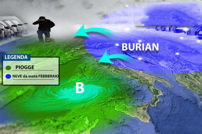 Meteo: Arriva Burian. Ecco quando, previsione su Nord, Centro, Sud e Isole
