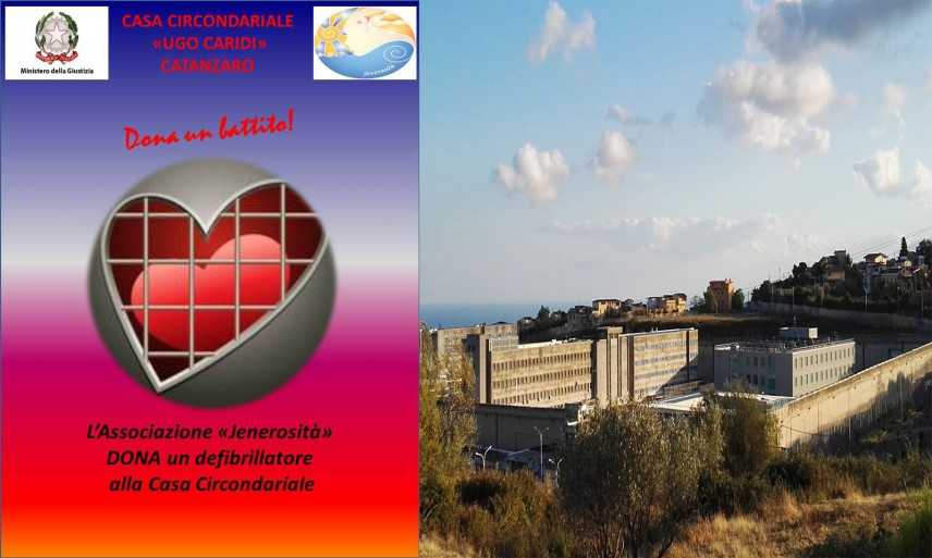 L'Associazione Jenerosità dona un defibrillatore al carcere di Catanzaro
