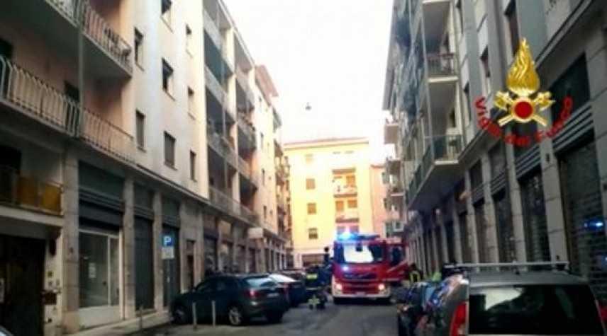 Divampata palazzina a Verona, soccorse 20 persone con le autoscale dei VVF