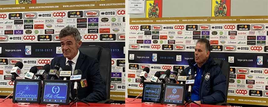Calcio: Catanzaro-Cavese 1-1, i commenti dei mister Auteri e Modica (Video)