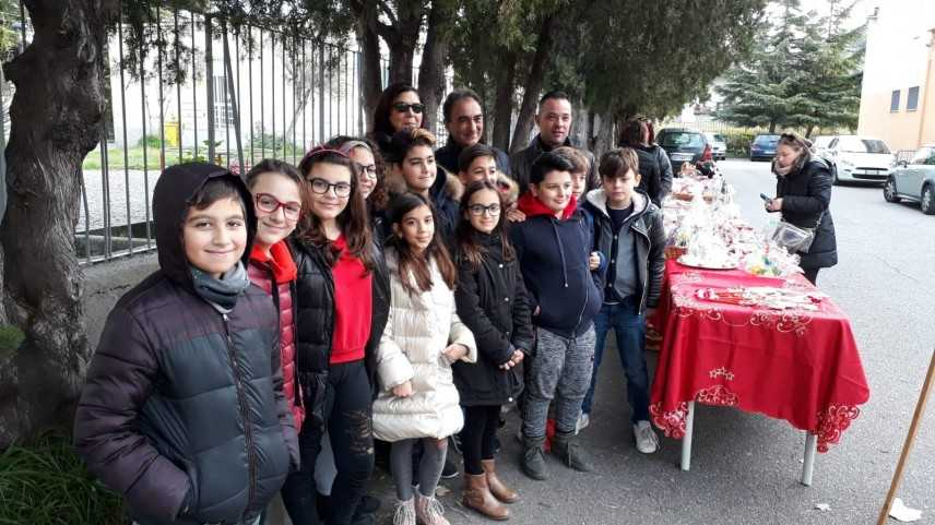 Abramo e Levato alla giornata della solidarietà promossa  dall'istituto  Mattia Preti