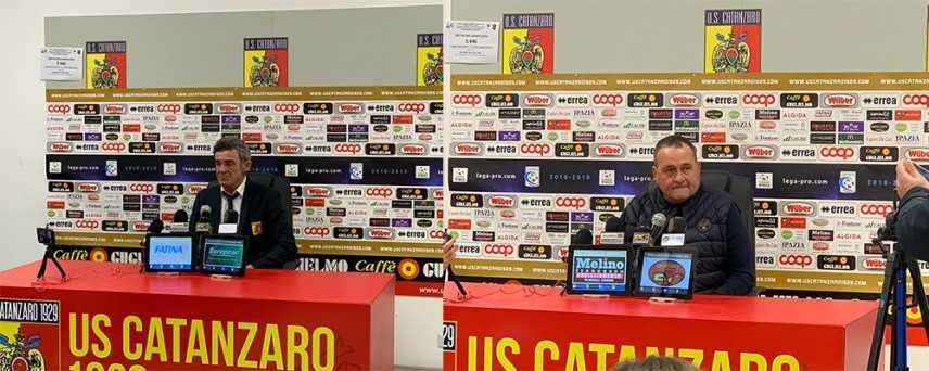 Calcio. Catanzaro-Siracusa 3-1 le dichiarazioni dei mister Auteri e Raciti (Video)