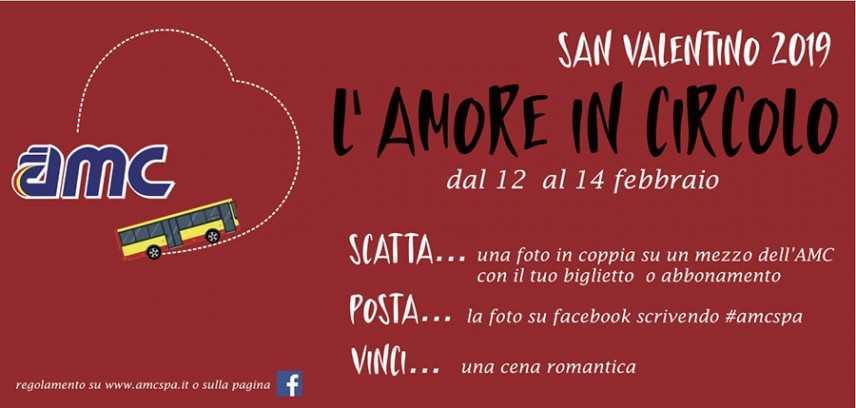 """San Valentino. L'AMC lancia """"l'amore in circolo"""" Scatta, posta e vinci!"""