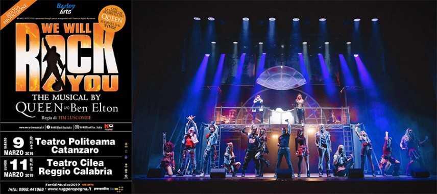We Will Rock You, il musical dei Queen al Politeama di Catanzaro e al Cilea di Reggio
