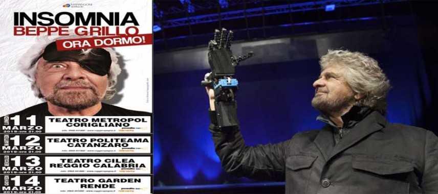 Beppe Grillo e il nuovo spettacolo lancia la contestazione a pagamento (4 tappe in Calabria!)