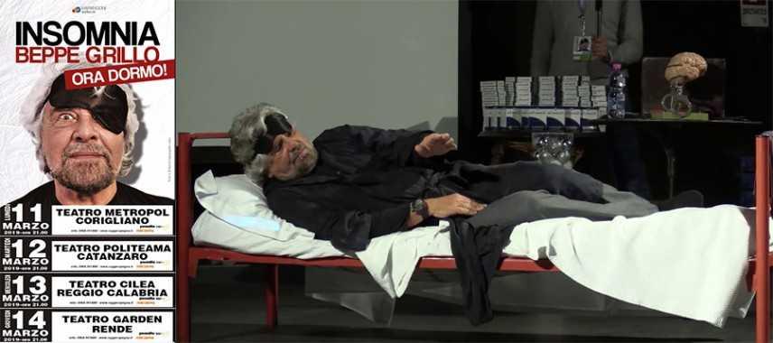 Beppe Grillo in Calabria per 4 tappe del suo show, Corigliano, Catanzaro, Reggio e Rende