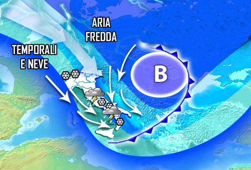 Meteo: settimana dal tempo fragile, previsioni su Nord, Centro, Sud e Isole