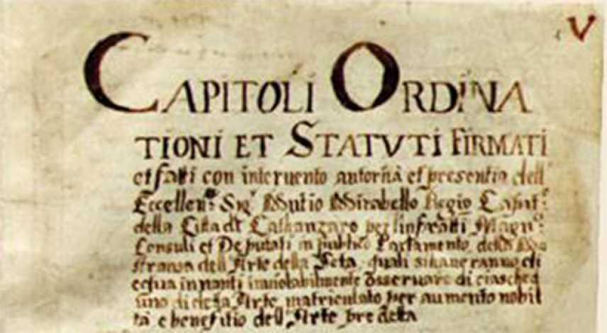 """Candidiamo i Capitoli Ordinationi et Statuti della Seta """"Memoria del mondo"""" dell'UNESCO"""