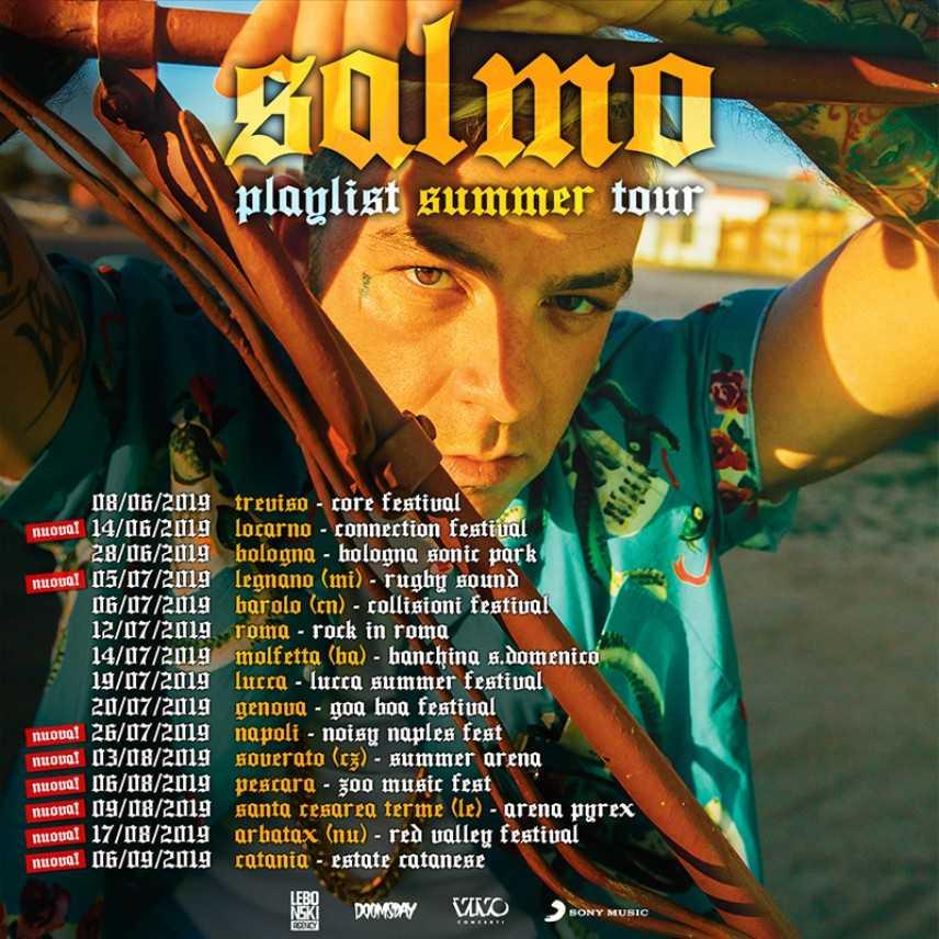 Summer Arena 2019, anche Salmo si aggiunge alla programmazione live a Soverato. Il concerto il 3 ago