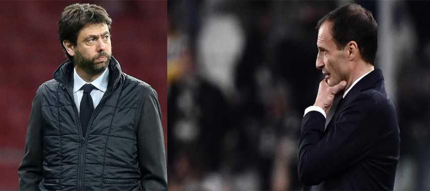 """Champions: Agnelli """"Ajax super"""", Juve avanti con Allegri"""