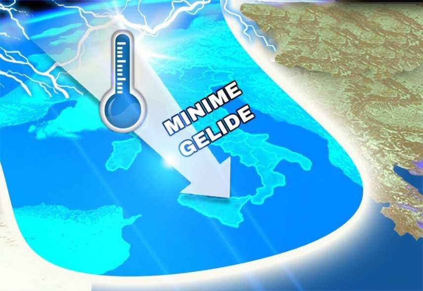 Meteo: Crollo termico, minime vicine allo zero. Previsioni su Nord, Centro, Sud e Isole