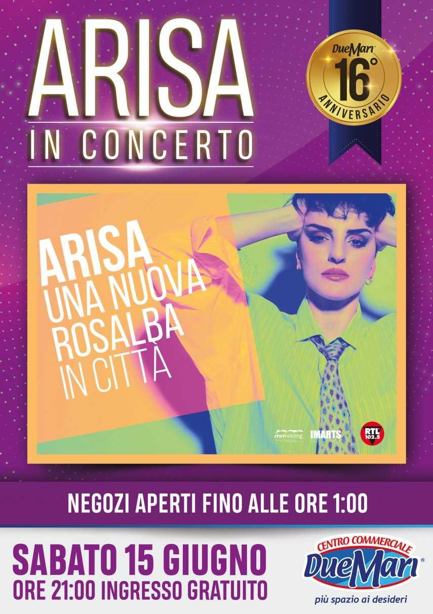 """Al via il tour di Arisa dal Due Mari! """"Nuova Rosalba in città"""""""