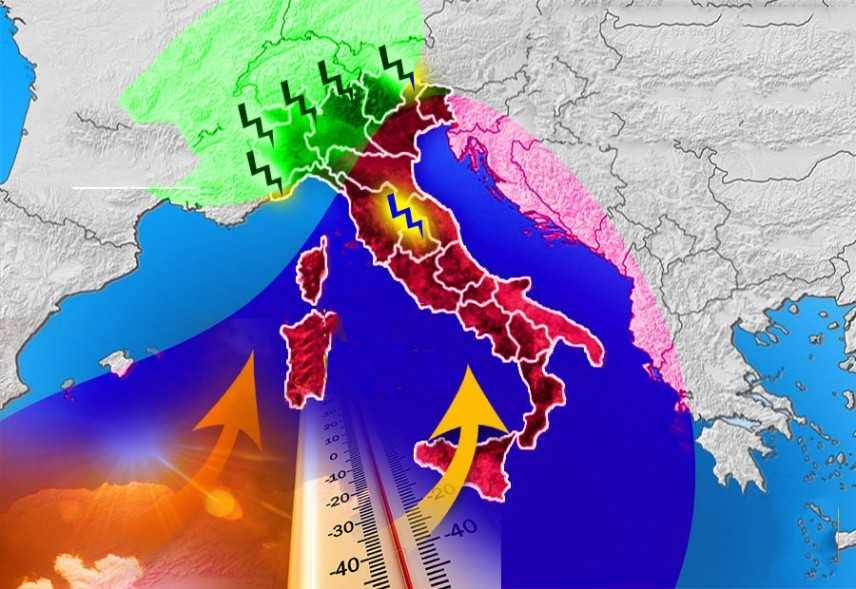 Meteo: Probabili Trombe d'aria in pianura, temporali e afa. Previsioni su nord, centro, sud e isole