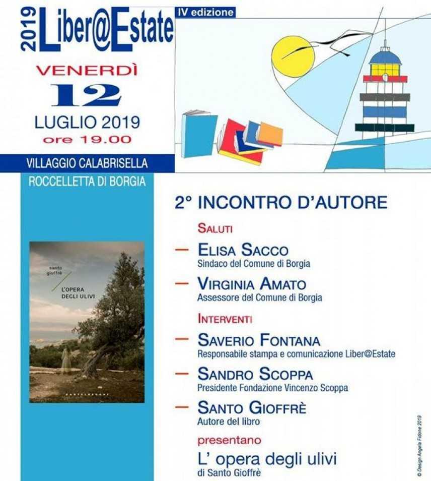 L'opera degli ulivi, Santo Gioffrè venerdì a Liber@Estate 2019
