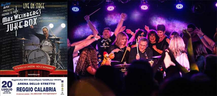 """Reggio Live Fest 2019"""": Max Weinberg, il batterista di Springsteen, all'Arena dello Stretto"""