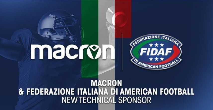 Macron nuovo sponsor tecnico  della federazione italiana american football