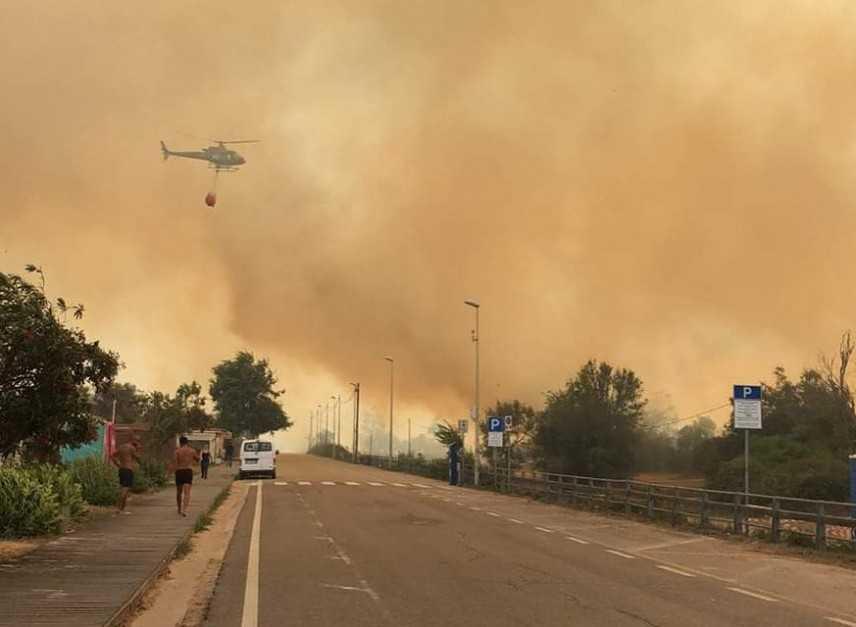 Rogo nel Nuorese: sindaco, fiamme quasi domate ma forte vento