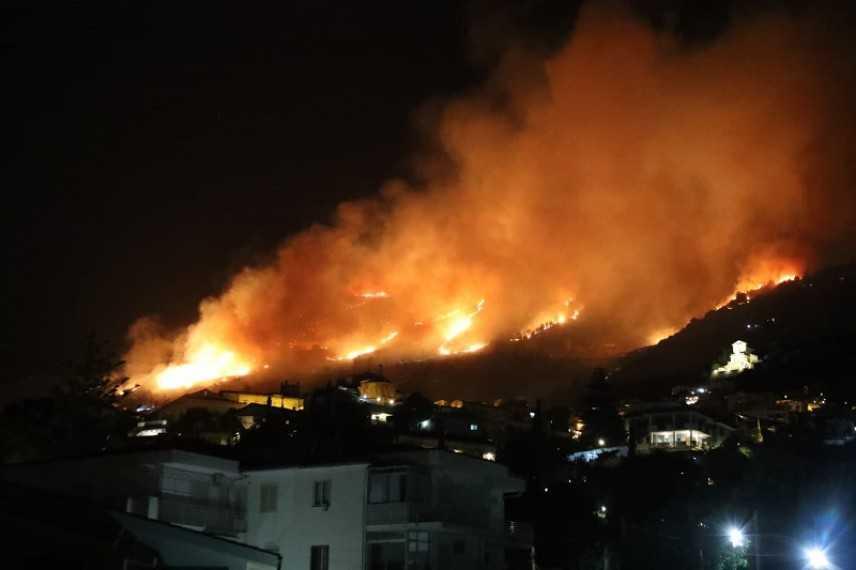Incendi: fiamme nel palermitano, a rischio abitazioni, immane lavoro dei VVF e Forestale
