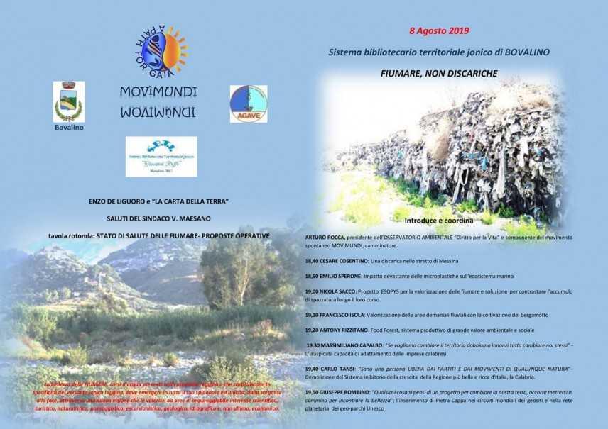 """Bovalino (RC):  """"Fiumare non discariche"""". Un convegno per illustrare lo stato della terra!"""