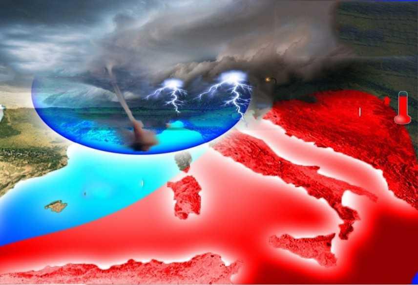 Allerta Meteo: Violenti temporali con grandine e caldo africano. Ecco dove colpiranno