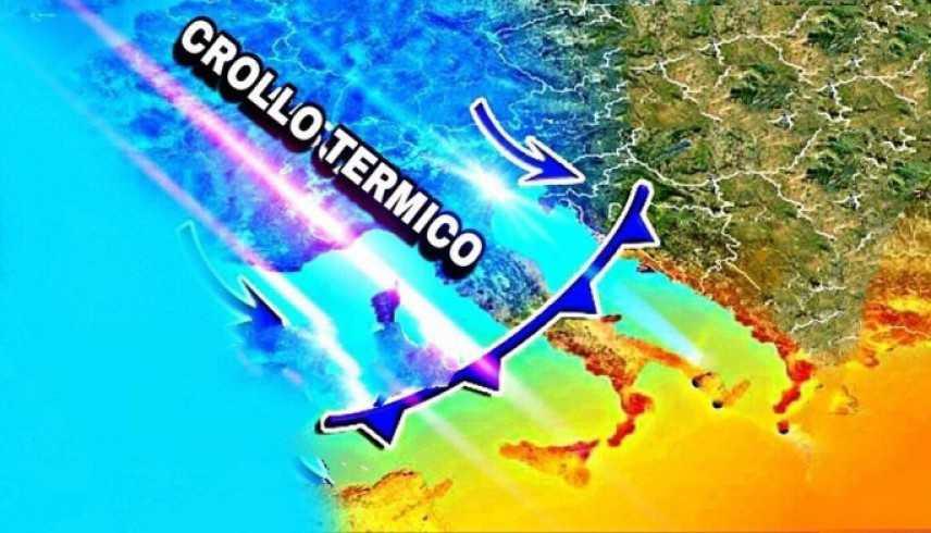 Meteo: Arriva un Tracollo Termico. Previsioni su Nord, Centro, Sud e Isole