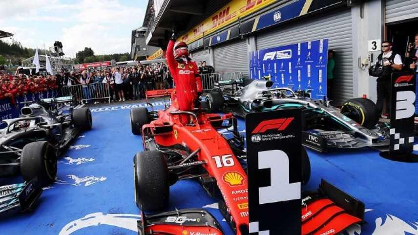 Belgio F1  Spa, Charles Leclerc il predestinato, vince il GP del Belgio 2 Hamilton 3 Bottas