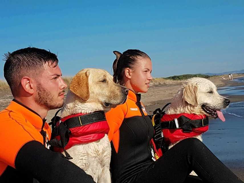 Cani di salvataggio, si torna a scuola. Aprono due nuove sedi Sics in Puglia e nelle Marche