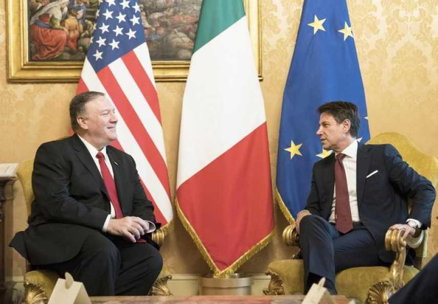 Conte-Pompeo, l'Italia vuole evitare i Dazi Usa Washington chiede maggiori investimenti nella difesa